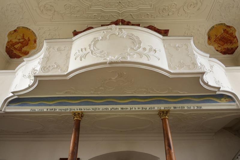 Orgelvorbau mit Schlangenbild, Foto: Thomas Stephan