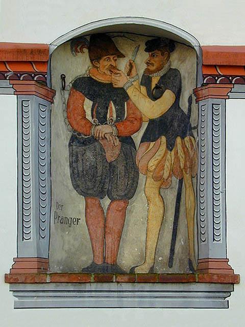 Prangerbild am Rathaus, Foto: Thomas Stephan