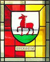 Glasfenster Riedisheimer Wappen