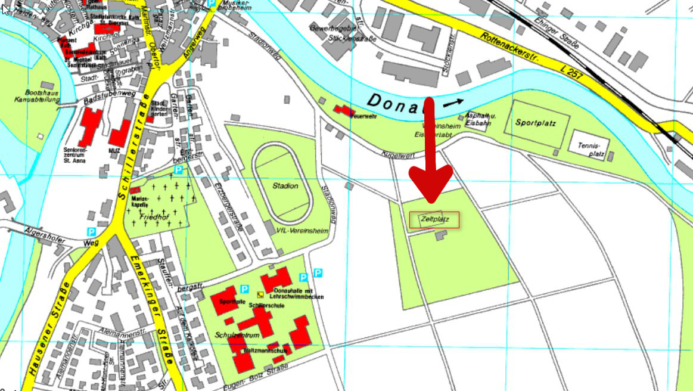 Kartenausschnitt Zeltplatz