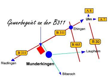 Karte für die Anfahrt